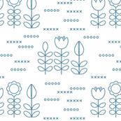 Scandinavian contour flowers
