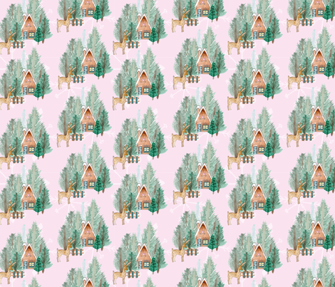 gingerbread-wood fabric by bees_that_buzz on Spoonflower - custom fabric