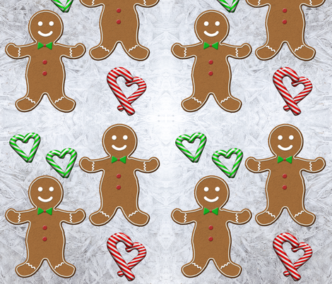 Gingerbread Men fabric by jaccii on Spoonflower - custom fabric
