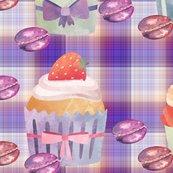 Rcupcakes-macarons-purple-coral-plaid-by-floweryhat_shop_thumb