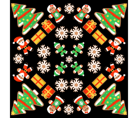 Christmas Cookies fabric by vividreverie on Spoonflower - custom fabric