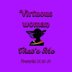 virtuous woman purple