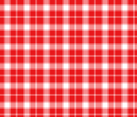 Red and White Plaid fabric by northern_whimsy on Spoonflower - custom fabric