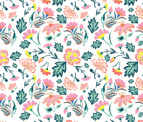 """21"""" Circo Floral / Mix & Match fabric by shopcabin on Spoonflower - custom fabric"""
