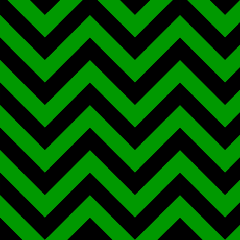 Three Inch Christmas Green and Black Chevron Stripes fabric by mtothefifthpower on Spoonflower - custom fabric