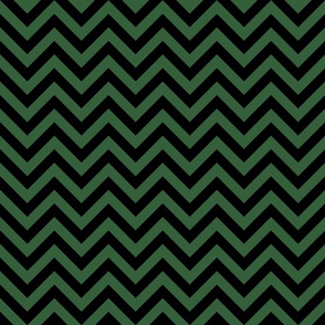 Three Inch Hunter Green and Black Chevron Stripes