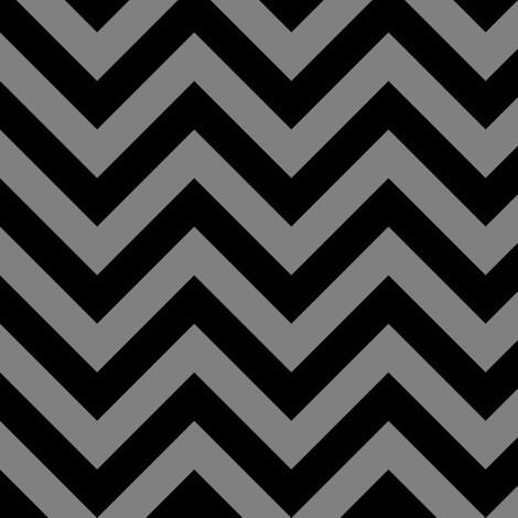 Three Inch Medium Gray and Black Chevron Stripes fabric by mtothefifthpower on Spoonflower - custom fabric