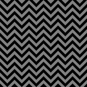 Three Inch Medium Gray and Black Chevron Stripes