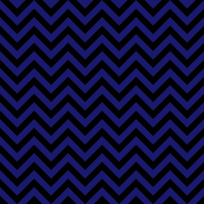 Three Inch Midnight Blue and Black Chevron Stripes