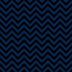 Three Inch Navy Blue and Black Chevron Stripes