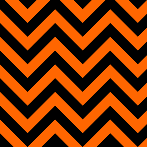 Three Inch Orange and Black Chevron Stripes fabric by mtothefifthpower on Spoonflower - custom fabric
