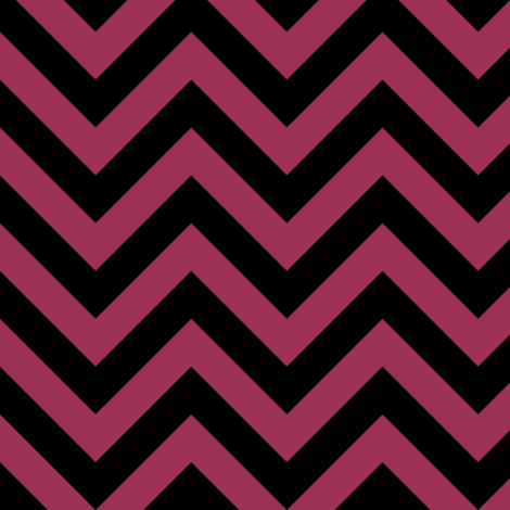 Three Inch Sangria Pink and Black Chevron Stripes fabric by mtothefifthpower on Spoonflower - custom fabric