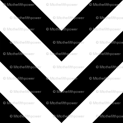 Three Inch White and Black Chevron Stripes