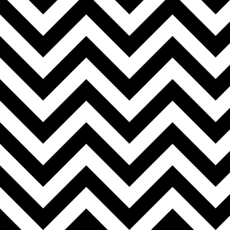 Three Inch White and Black Chevron Stripes fabric by mtothefifthpower on Spoonflower - custom fabric