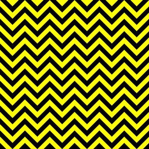 Three Inch Yellow and Black Chevron Stripes