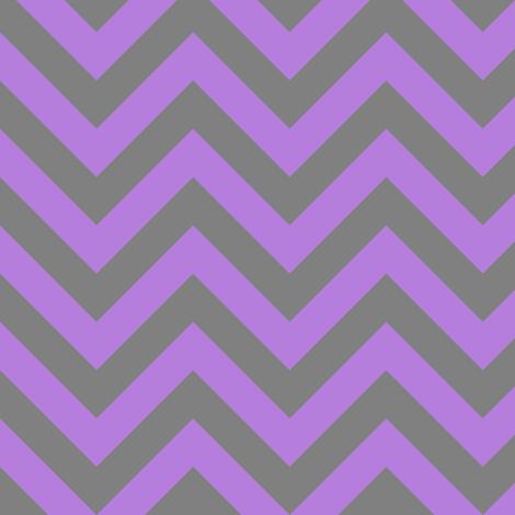 Three Inch Lavender Purple and Medium Gray Chevron Stripes fabric by mtothefifthpower on Spoonflower - custom fabric