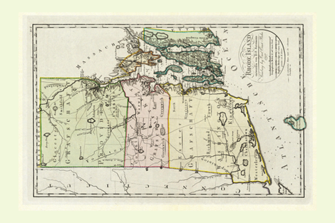 Rhode_Island_Vintage_Map_Tea_Towel_fatquarter_Roostery fabric by saltlabs on Spoonflower - custom fabric