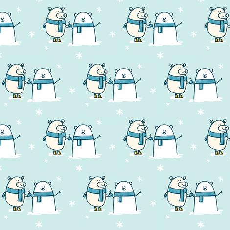Polar Bear Snowman fabric by amywalters on Spoonflower - custom fabric