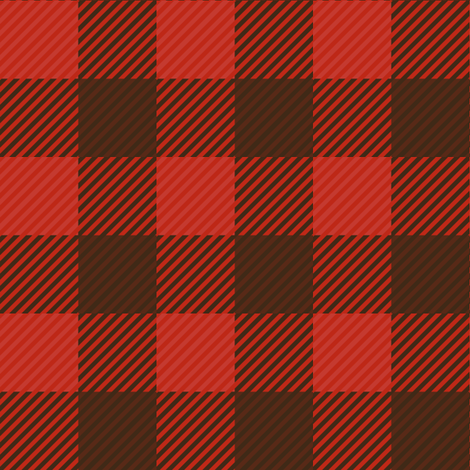 Buffalo Plaid Large Repeat fabric by jannasalak on Spoonflower - custom fabric