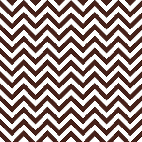 Three Inch Brown and White Chevron Stripes