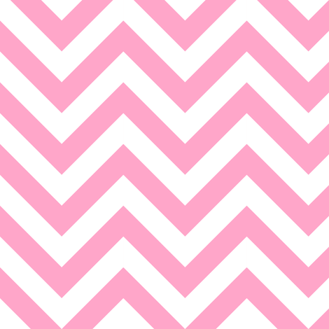 Three Inch Carnation Pink and White Chevron Stripes fabric by mtothefifthpower on Spoonflower - custom fabric