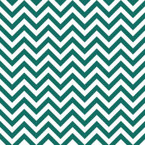 Three Inch Cyan Turquoise Blue and White Chevron Stripes