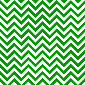 Three Inch Christmas Green and White Chevron Stripes