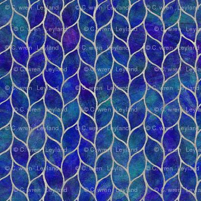 leaf tile cobalt