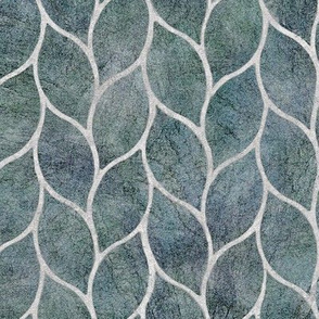 leaf tile blue-grey