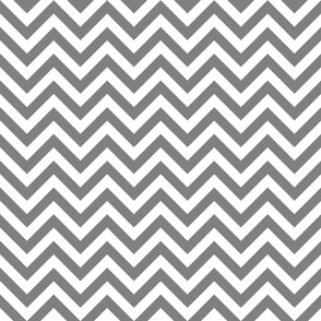 Three Inch Medium Gray and White Chevron Stripes