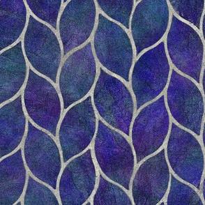 leaf tiles lapis lazuli blue