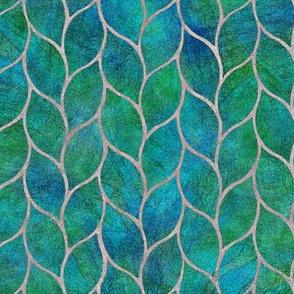 leaf tile aqua marine