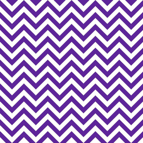 Three Inch Purple and White Chevron Stripes