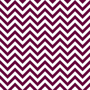 Three Inch Tyrian Purple and White Chevron Stripes