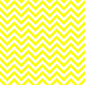 Three Inch Yellow and White Chevron Stripes