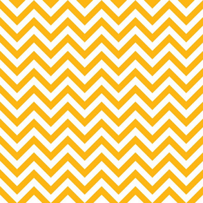 Three Inch Yellow Gold and White Chevron Stripes