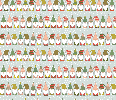 Christmas Gnomes fabric by heartsandsharts on Spoonflower - custom fabric