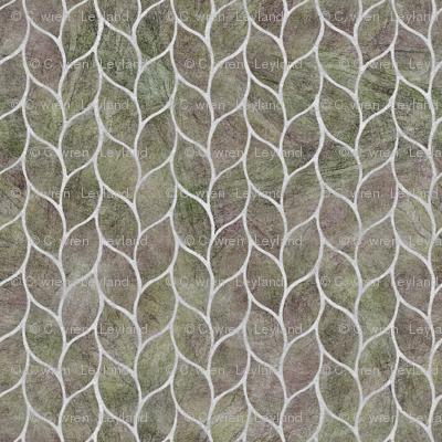 leaf tiles blush silver grey