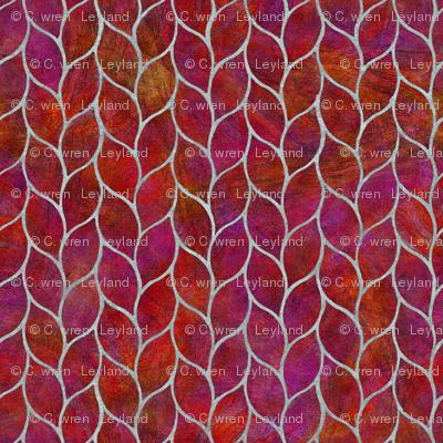 leaf tiles fiery reds