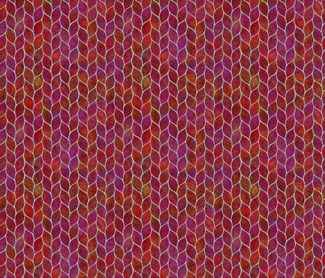 leaf tiles fiery reds fabric by wren_leyland on Spoonflower - custom fabric