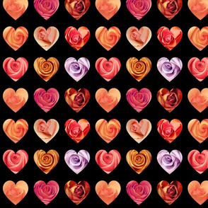 9 hearts single roses