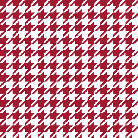 houndstooth crimson and white minimalist pattern print fabric smaller version fabric by charlottewinter on Spoonflower - custom fabric