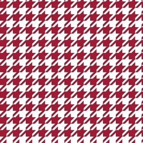 houndstooth crimson and white minimalist pattern print fabric smaller version