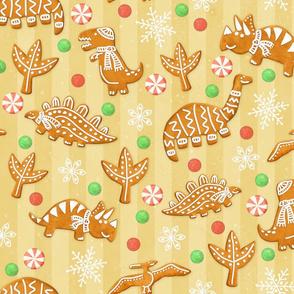 Gingerbread Dinos - Golden
