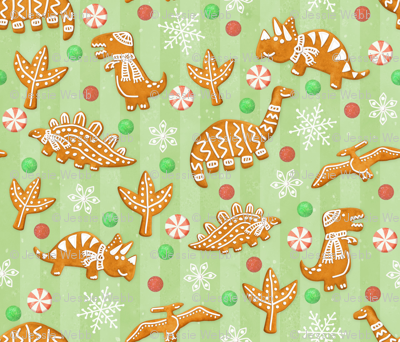 Gingerbread Dinos - Spearmint