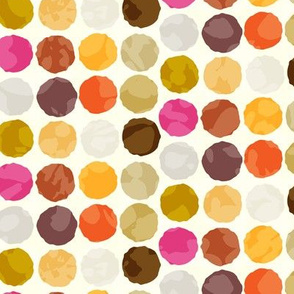 Fall Autumn Truffle Balls || Orange Gold Gray Pink Plum Dots Spots Chocolate Autumn Circles _ Miss Chiff Designs