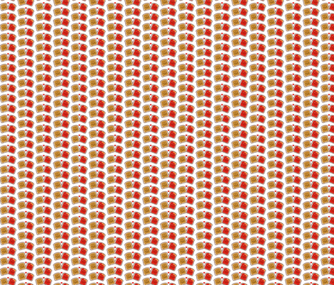 PB&J Red Jam on White 1 inch fabric by mariafaithgarcia on Spoonflower - custom fabric