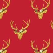 Christmas Deer Glitter Deer