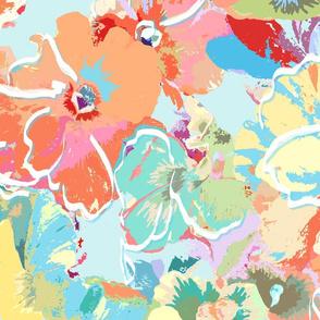painted pansies pastel