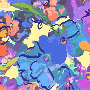 pansies comic colors